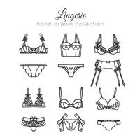 Ensemble de lingerie dessiné à la main