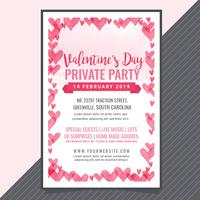 Vektor-Valentinstag-Party-Poster