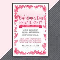 Cartel del partido del día de San Valentín del vector