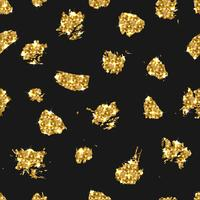 Golden glitter seamless pattern