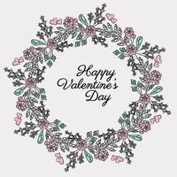 Vector Valentine' Day Wreath