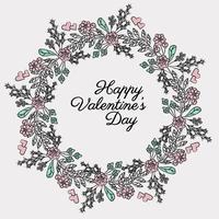 Vector Valentine' Day Wreath