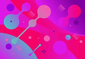 Funky Abstract Shapes Background vector