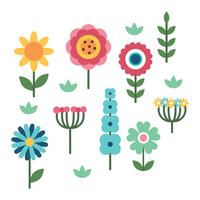 Flat Clipart Flowers