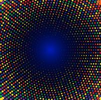 Abstrakt färgrik cirkulär halvton bakgrund