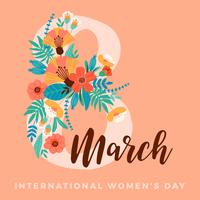 International Women s Day. Vector template.