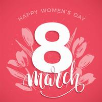 International Women's Day. Vector template