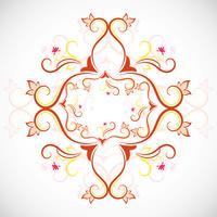 Vettore decorativo colorato disegno floreale