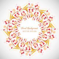 Sfondo decorativo colorato cornice floreale