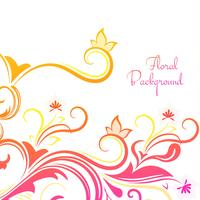 Beautiful decorative colorful floral background vector