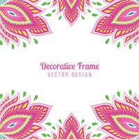 Beautiful artistic artwork colorful floral card background