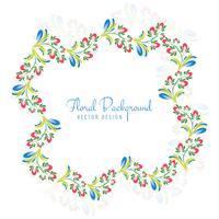 Beautiful decorative ornament colorful floral frame design