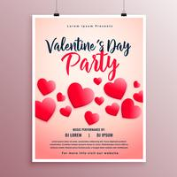 härlig valentin dag party flyer mall