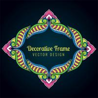 Decorative artistic artwork colorful floral frame design