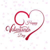 Hjärtor för valentins dag kort bakgrund