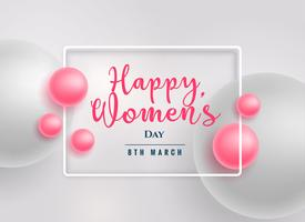 beautiful pink pearls happy women's day background