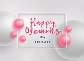 sfondo di giorno di donne felici belle perle rosa