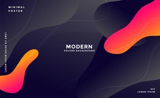 fond de style fluide moderne moderne