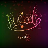 Ejemplo feliz del diseño del corazón de la tarjeta del amor del día de tarjeta del día de San Valentín