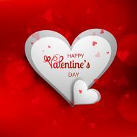 Vacker valentins dag kort bakgrund illustration