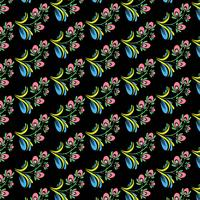 Beautiful decorative colorful floral pattern background