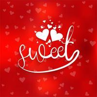 Lycklig valentins dag kärlekskort hjärta design illustration