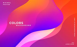 abstract vibrant fluid colors background