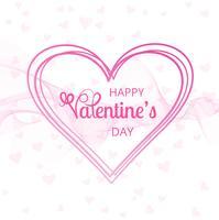 Ejemplo feliz del diseño de tarjeta del amor del día de tarjeta del día de San Valentín