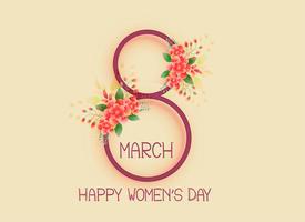 felice giorno della donna 8 marzo sfondo del design