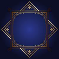 Decorative background with gold frame