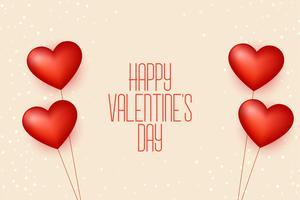happy valentines day balloon hearts background