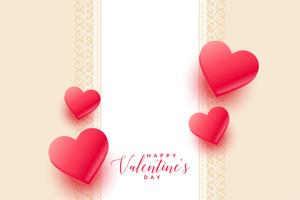 beautiful 3d hearts valentines day background