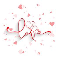 Beautiful card love background with hearts design