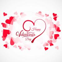Valentines day colorful hearts card background illustration vector
