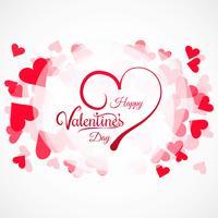 Herzkartenhintergrundillustration des Valentinsgrußtages bunte vektor