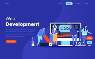 Modern flat design concept of Web Development