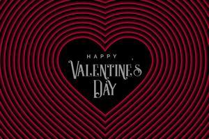 Retrostillinie Herzen für Valentinstag