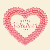 creative papercut heart shape valentines day background