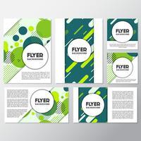 frisse mode achtergrond flyer stijl achtergrond ontwerpsjabloon