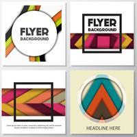frische Mode Hintergrund Flyer Stil Hintergrund Design-Vorlage