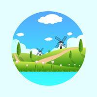 Frühlings-Hintergrund-Vektor-Illustration