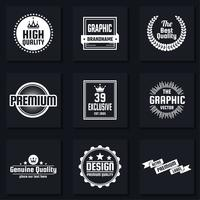 Vintage Retro Vector Logo for banner