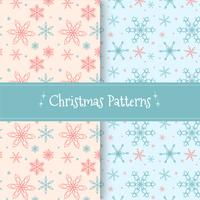 Cute Christmas Patern Collection With Snowflakes