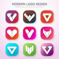 Modern Minimal Vector Logo for banner