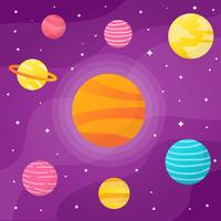 Galaxy Space With Element Background Vector