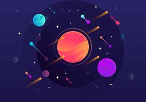 Fondo de galaxia ilustración vectorial