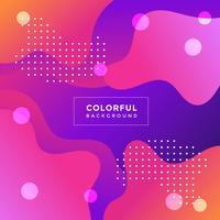 Vecteur de fond coloré
