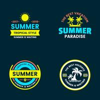 Summer Retro Vector Logo for banner