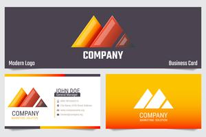 Modern business card Modelo de design de vetor