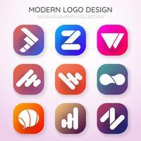 Logotipo de vetor mínimo moderno para banner